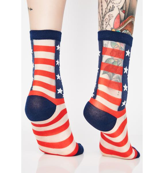 Make America Lit Again Sheer Socks