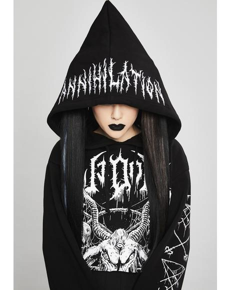 Total Annihilation Cropped Hoodie