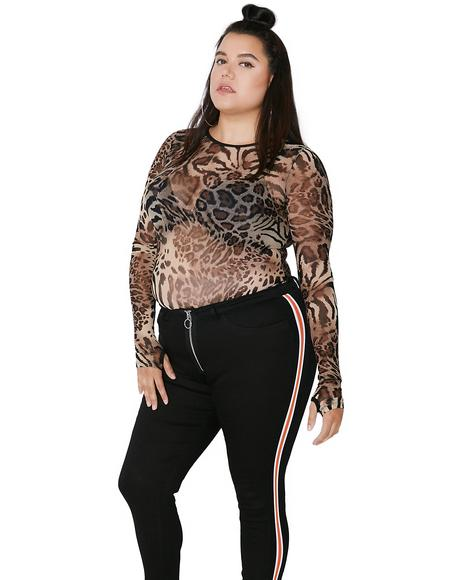 Cat Scratch Feva Mesh Top