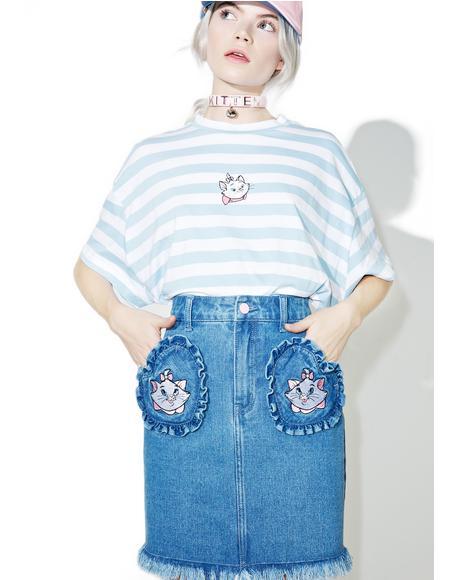 X Disney Aristocats Denim Skirt