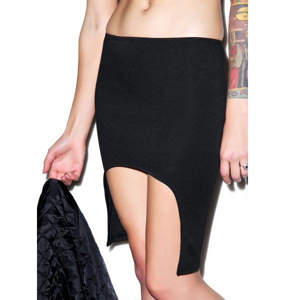 BLQ BASIQ Curved Hem Skirt