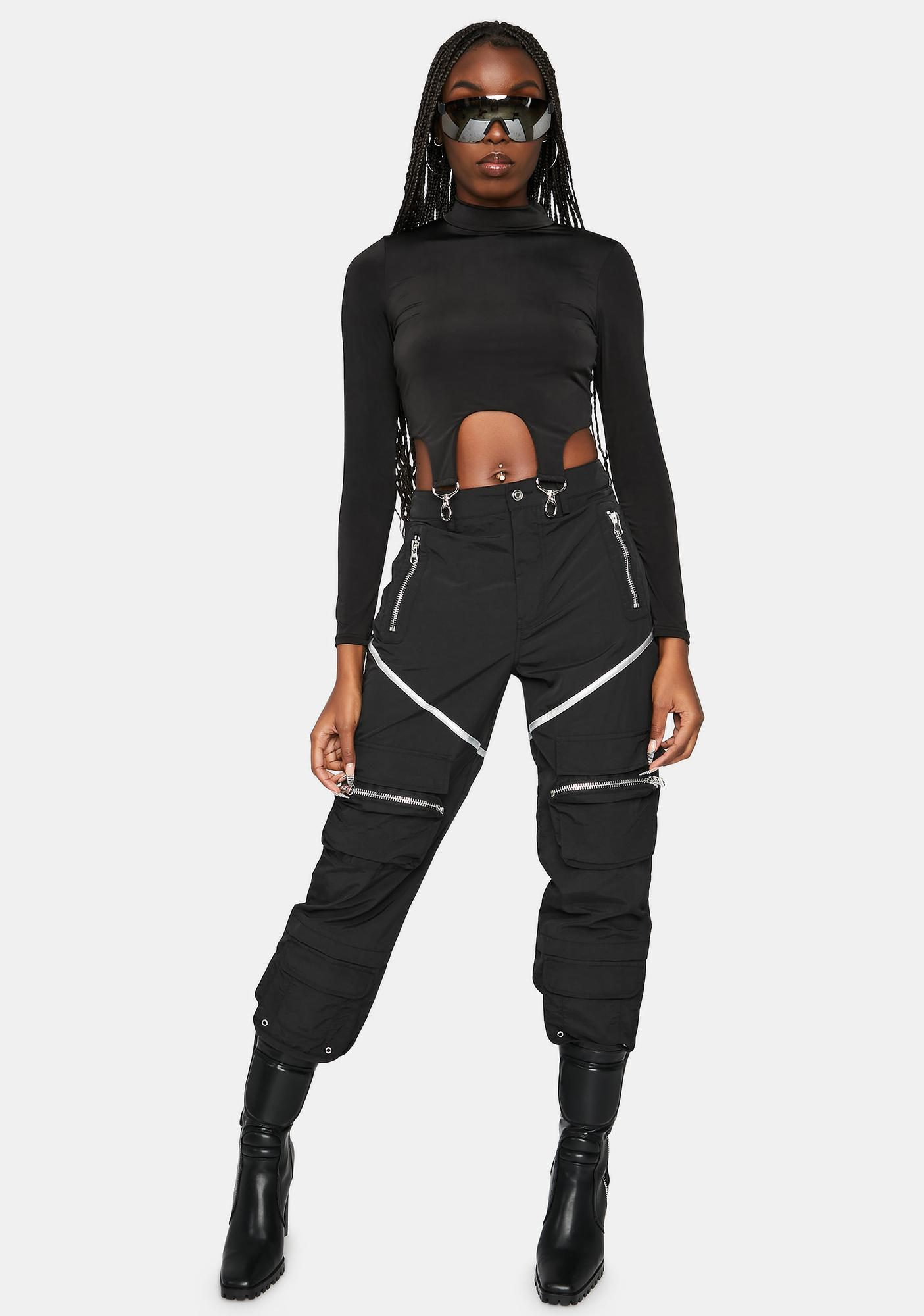 Hold It Together Buckle Strap Crop Top