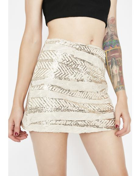 Glamazon Sequin Mini Skirt