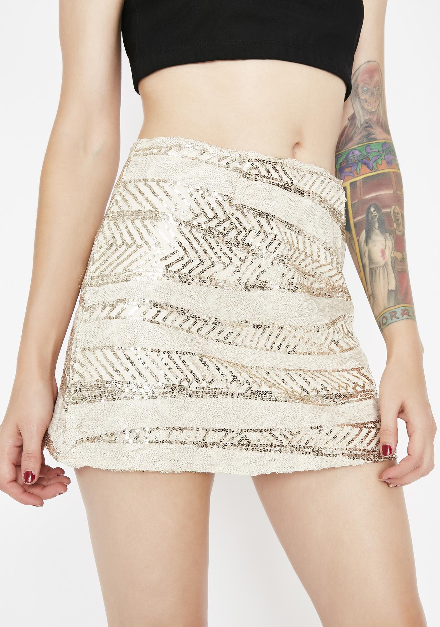 Glamazon Sequin Mini Skirt