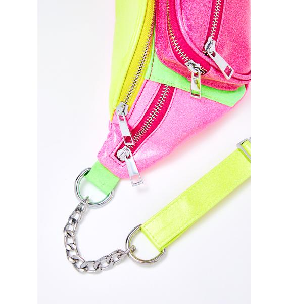 Club Exx Mind Melt Colorblock Fanny Pack