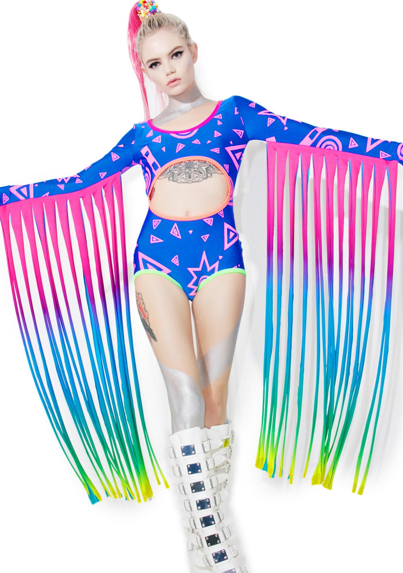 Mamadoux Fringed Rave Bodysuit