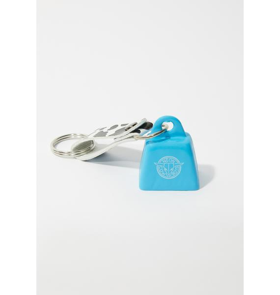 Neon Cowboys Blue Mini Cowbell Keychain
