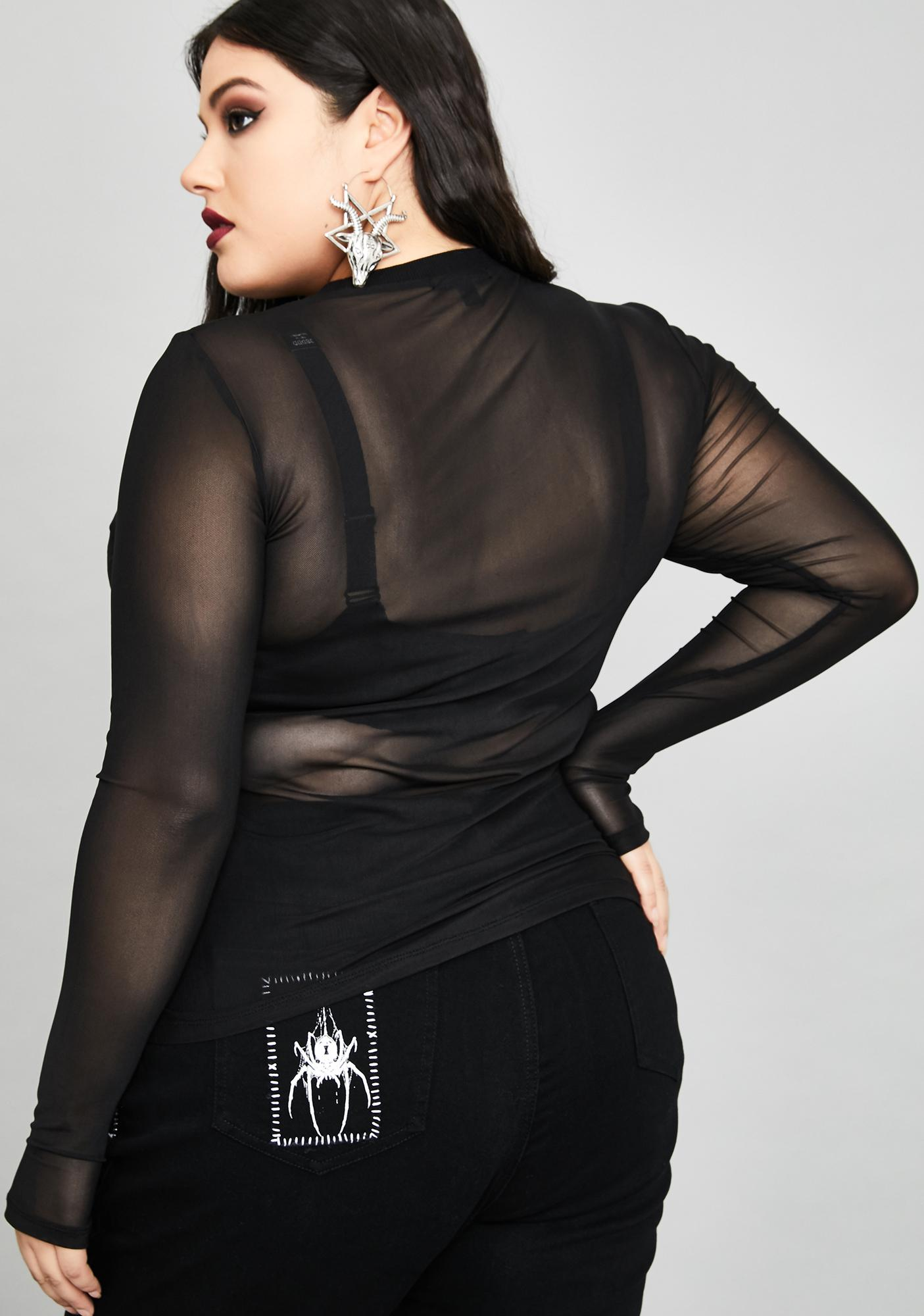Widow Her Deadly Demise Mesh Top
