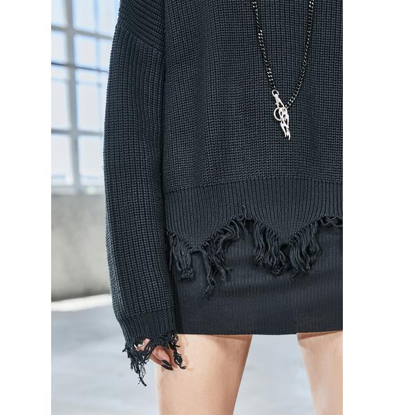 DARKER WAVS Bassline Marled Sweater