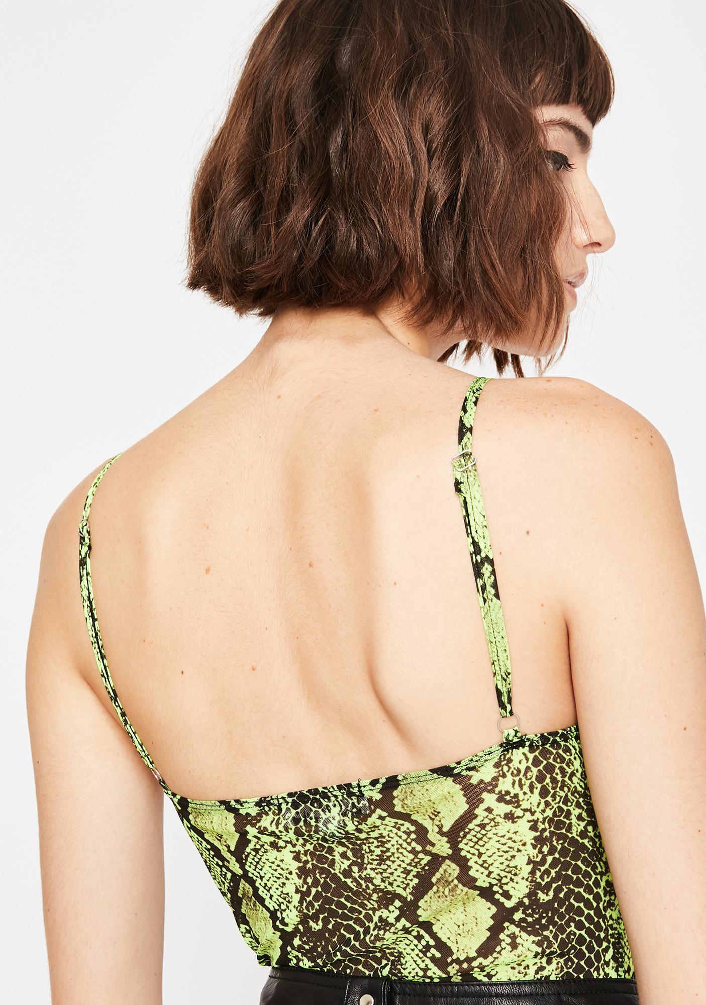 Bodak Vile Qween Snake Skin Bodysuit