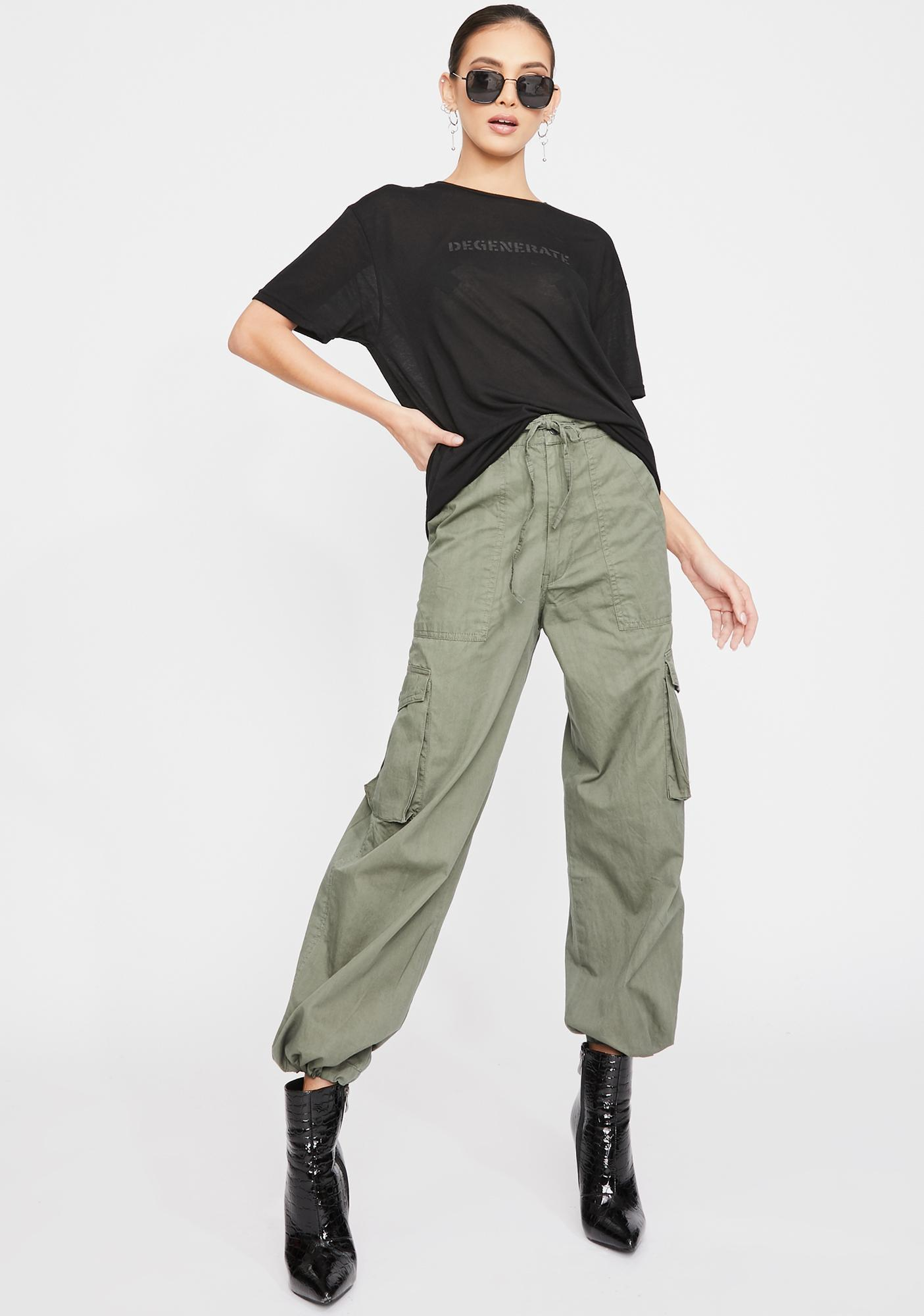 The People VS Surplus Green Cargo Pants