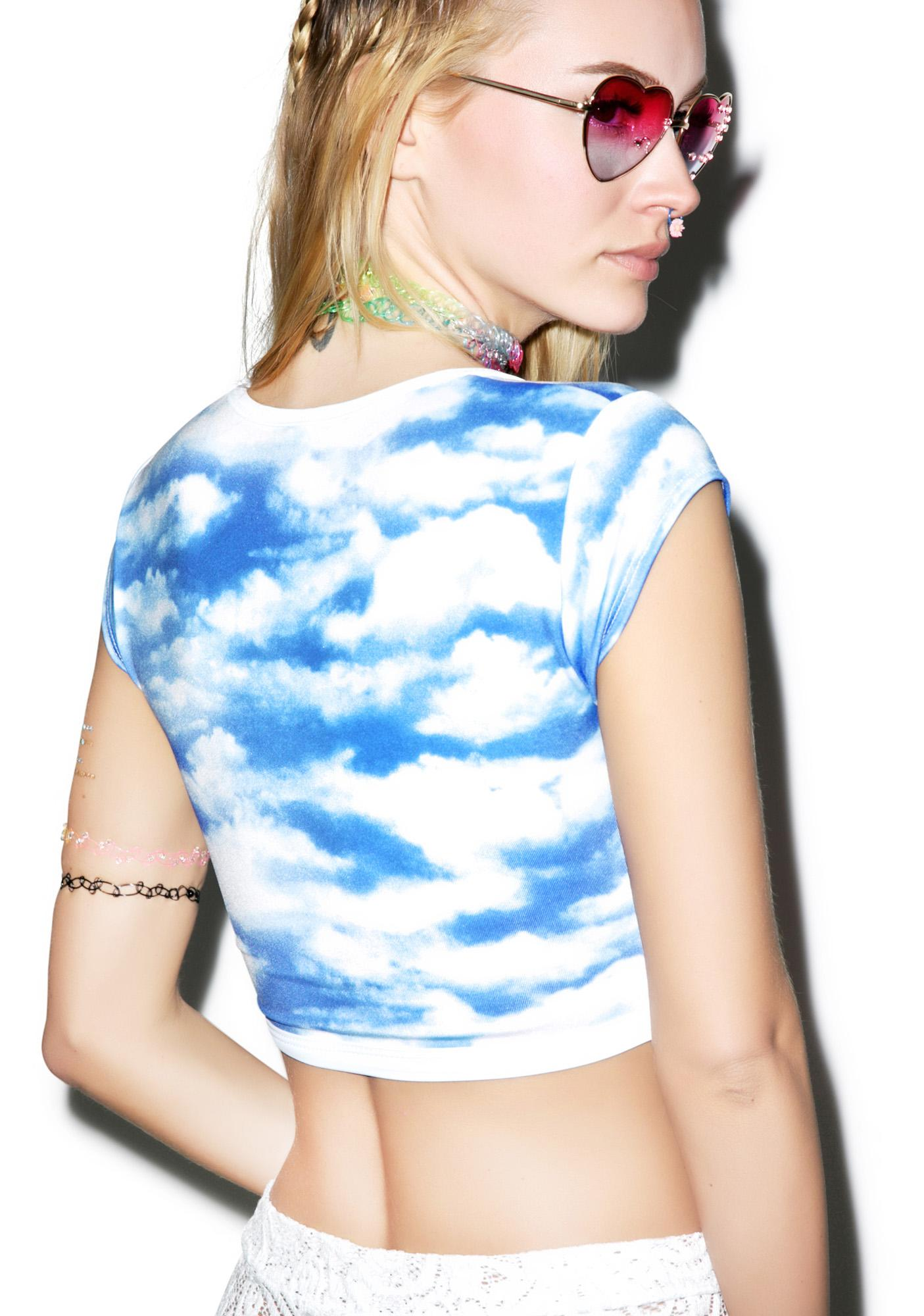 J Valentine Cloud Crop Top