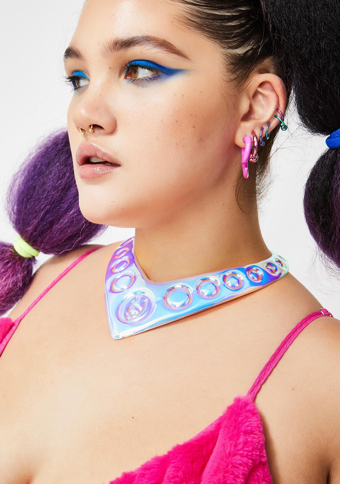 Cyberdog Shield Necklace