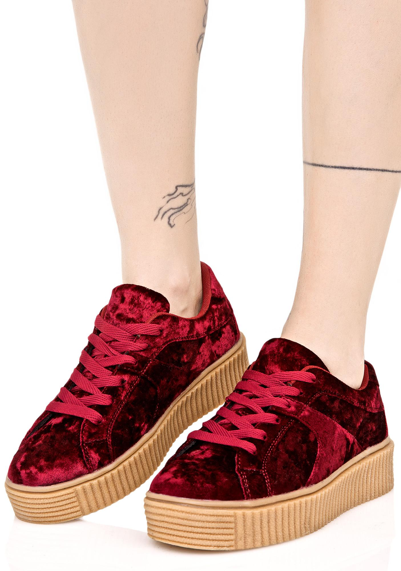 Crimson Doubt It Creeper Sneakers