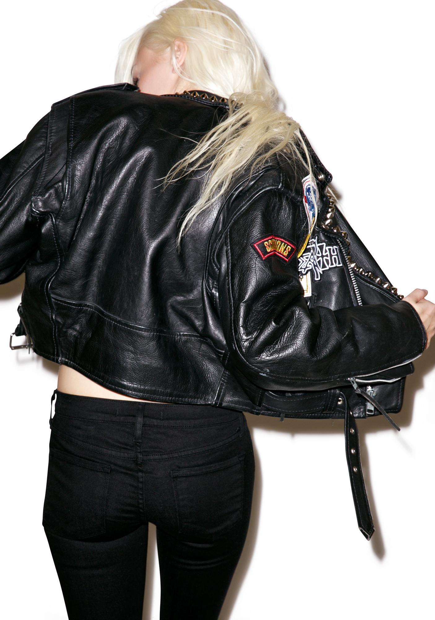 Hazmat Design Highway Star Leather Jacket