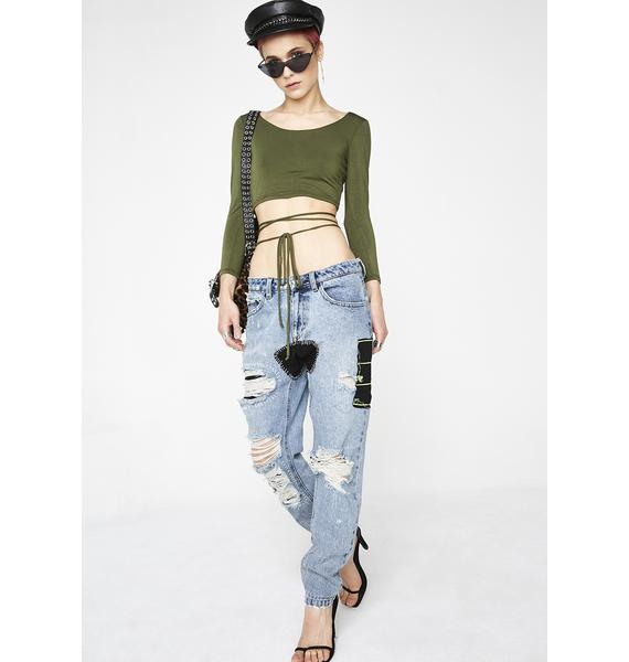 Hunter Issa Wrap Crop Top