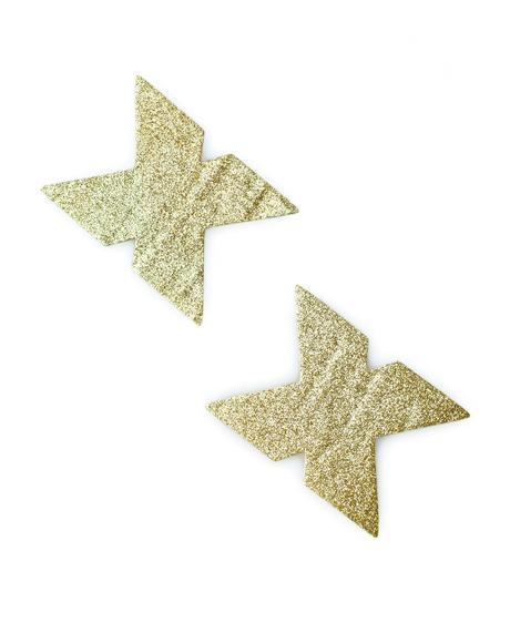 X Gold Glitter Pasties