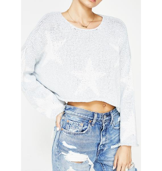 Wildfox Couture Star-Crossed Star Sweater