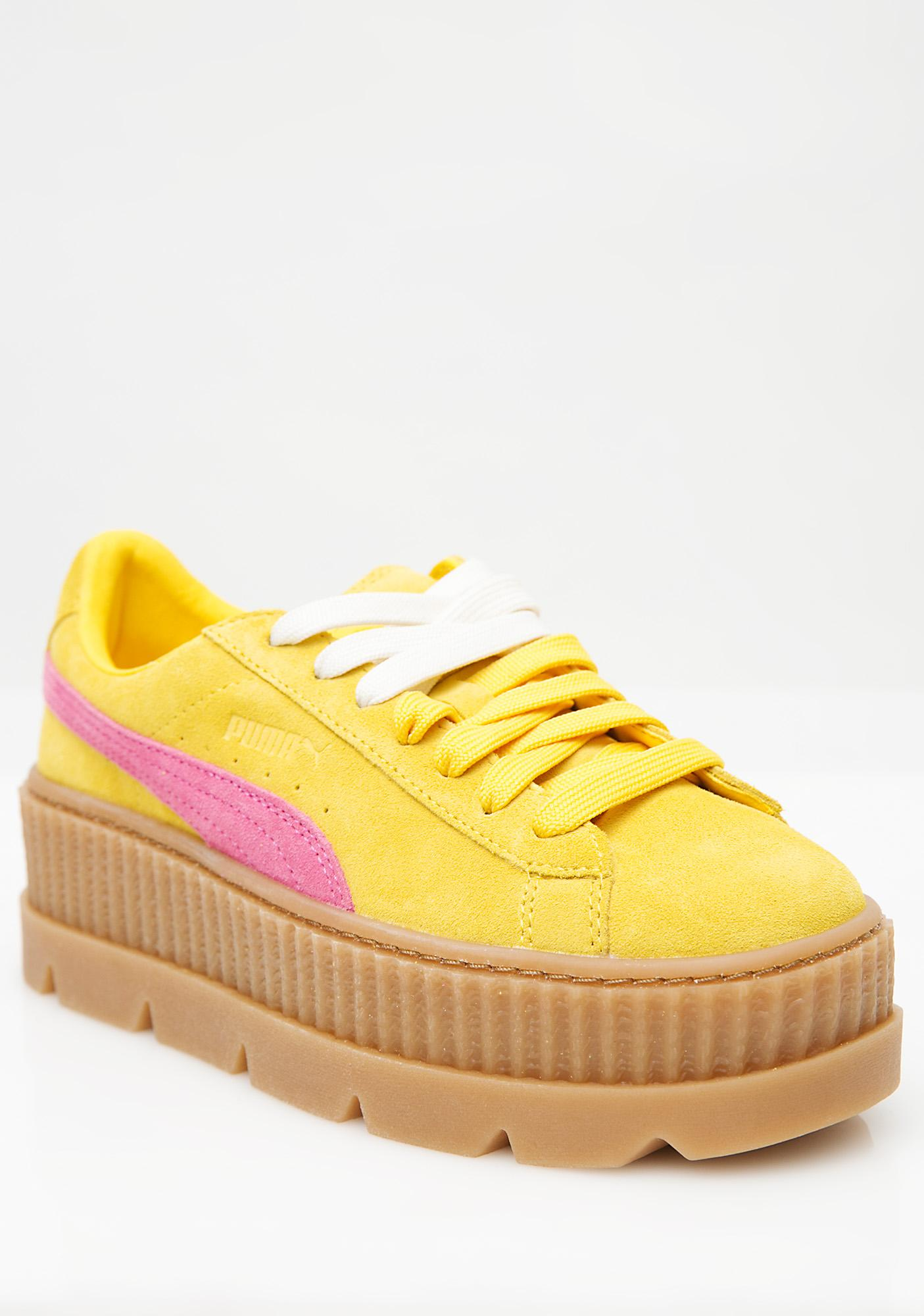 puma cleated creeper clear bottom