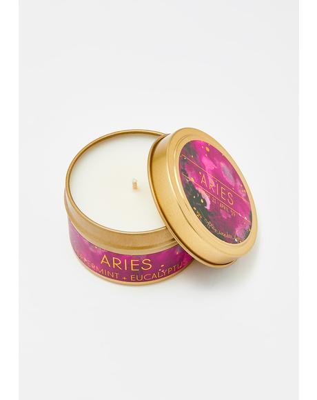 Aries Travel Tin Candle