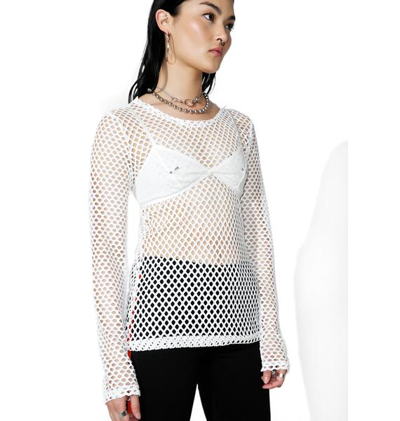 Tripp NYC Sacred Mary Q Mesh Long Sleeve Top