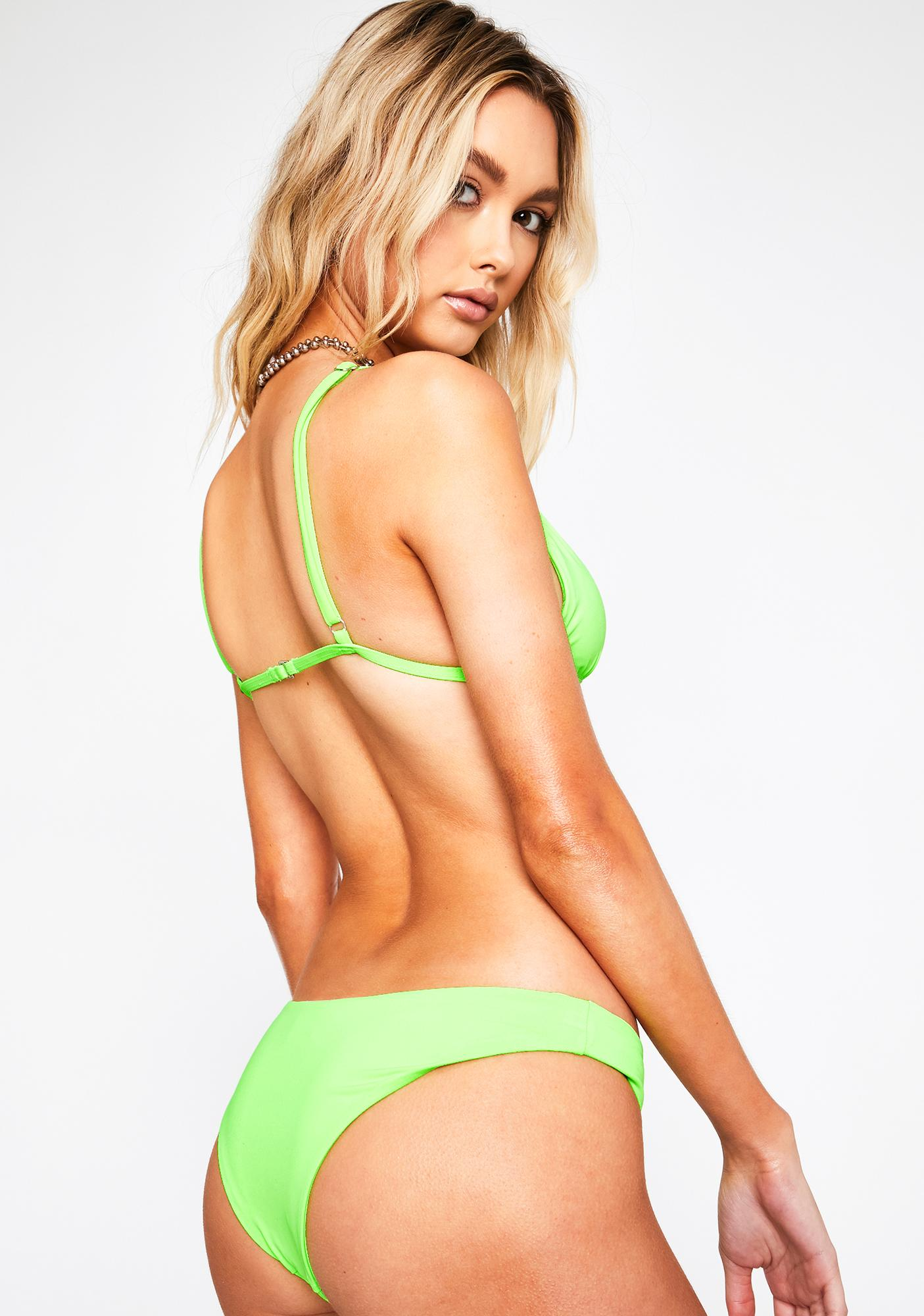 Dippin' Daisy's Lime Nocturnal Bikini Bottoms