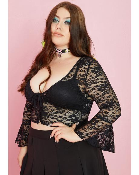 I'm Yours To Keep Lace Top