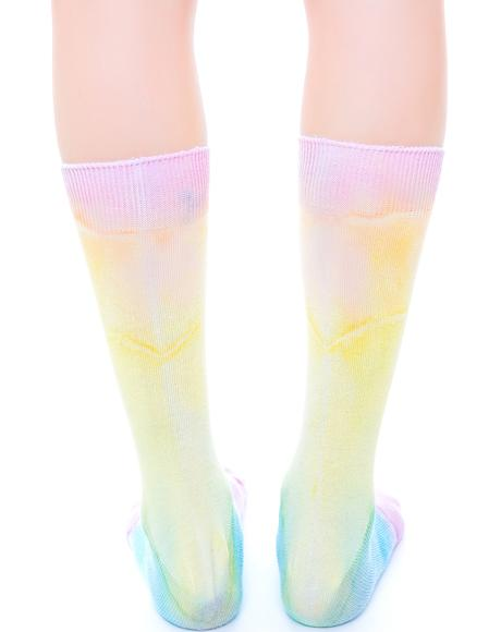 Sweet Like Ice Cream Tie Dye Socks