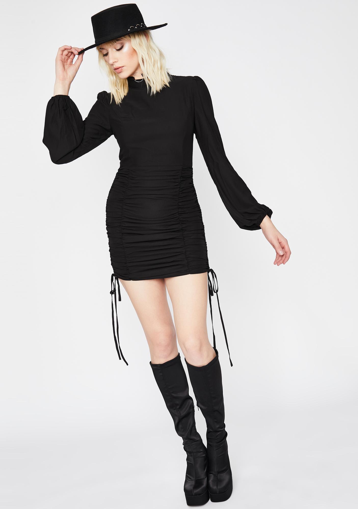 Blazing Fate Ruched Dress