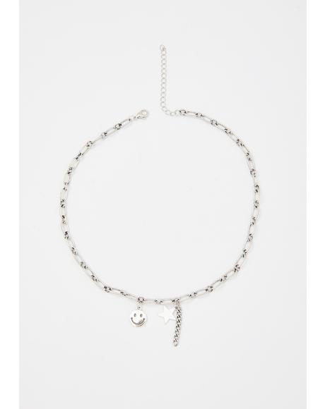 Starlight Smiles Chain Necklace