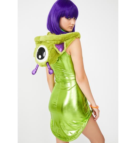 Dolls Kill Galactic Breakout Alien Costume