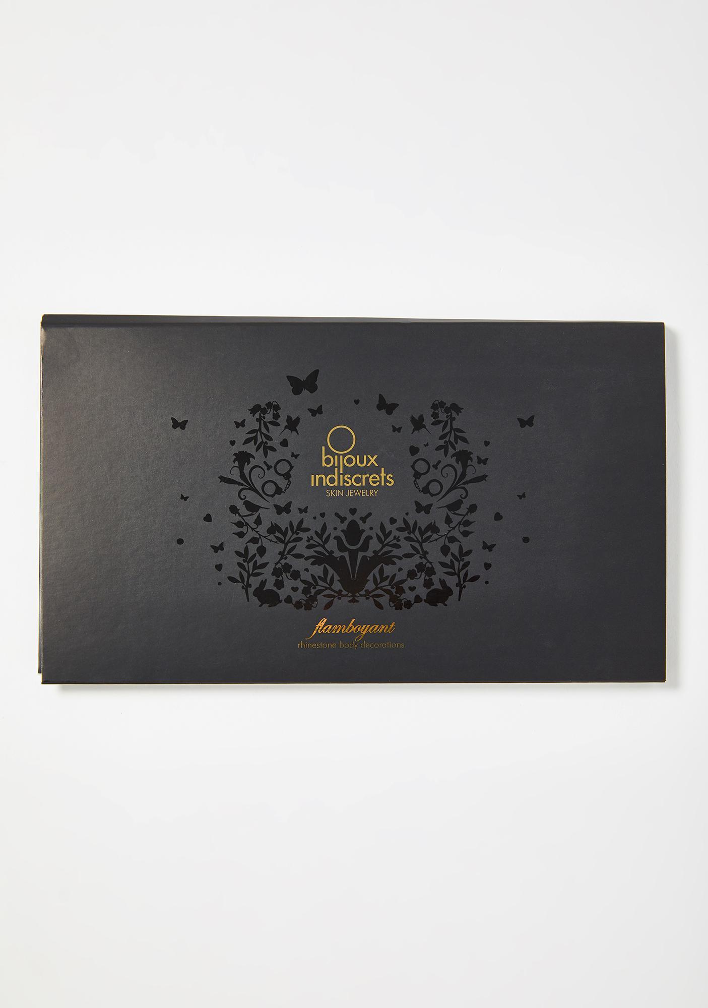 BIJOUX INDISCRETS Black Flamboyant Skin Jewelry