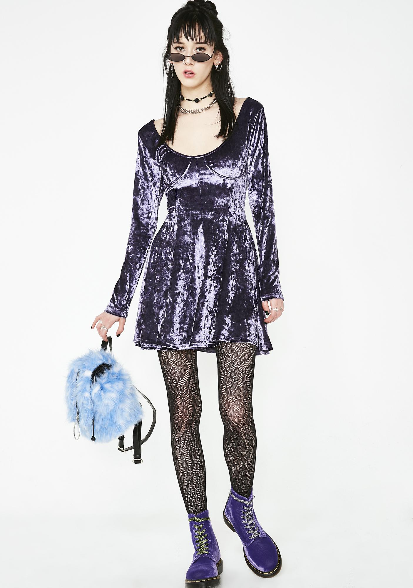 Current Mood Misfit Magic Velvet Dress