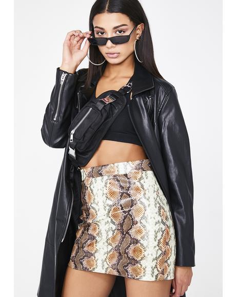 Miss Venom Snakeskin Skirt