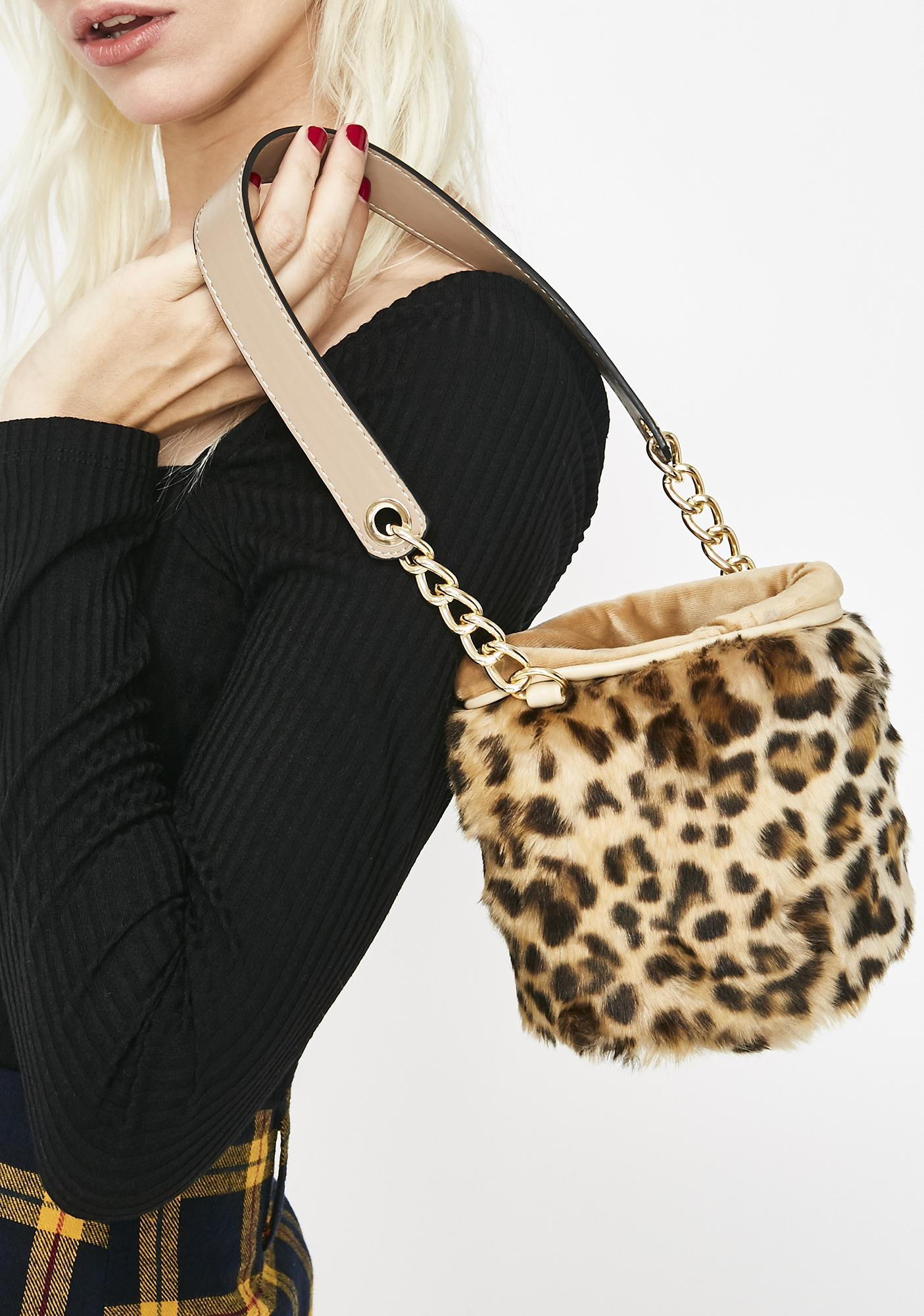 Leopard Lady Mini Bucket Bag