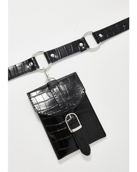Noir Blazin' Saddles Belt Bag