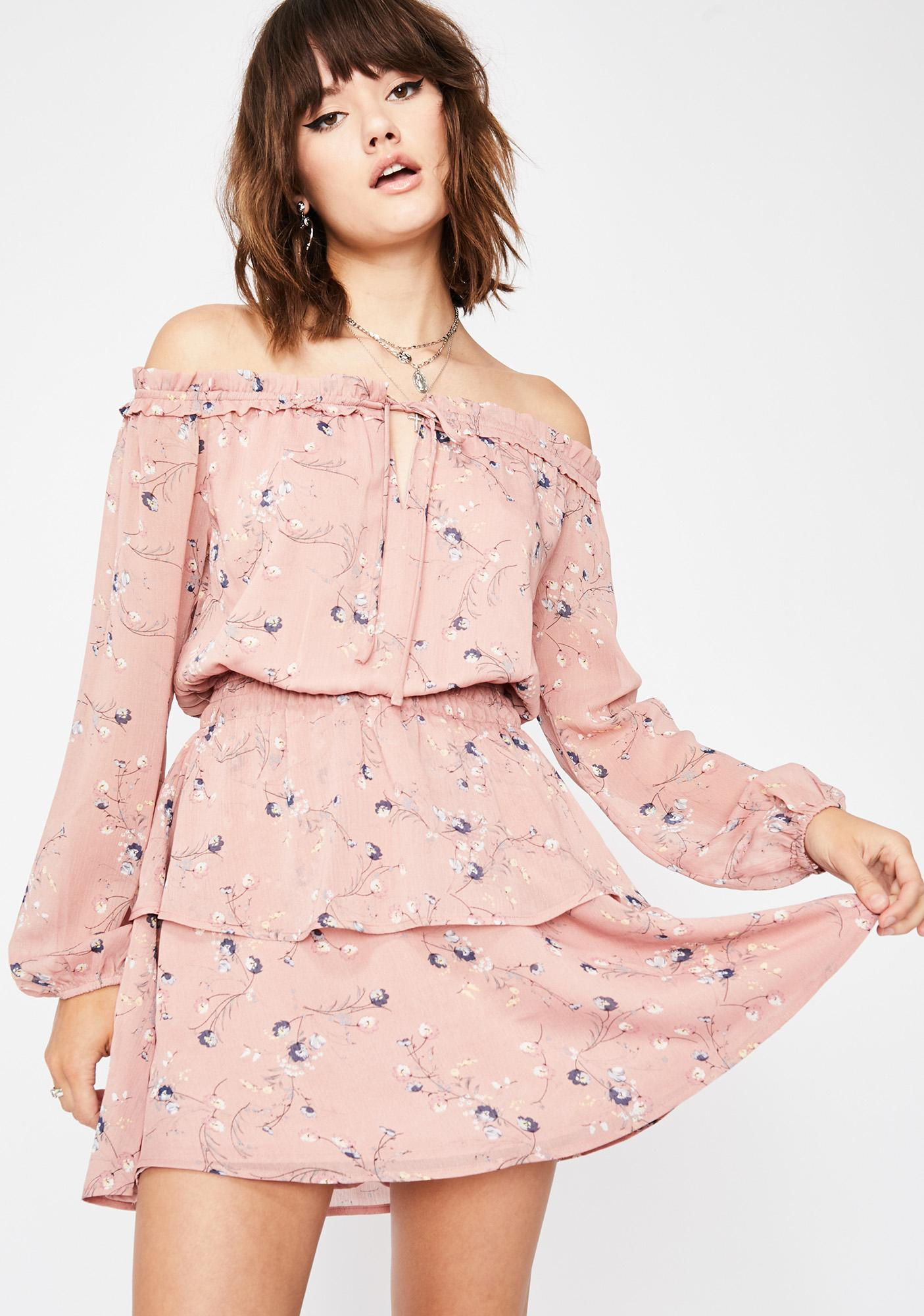 Blushin' Dixie Dance Floral Dress