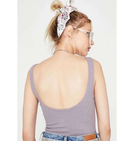 Grape Bad Gurl Club Tank Bodysuit