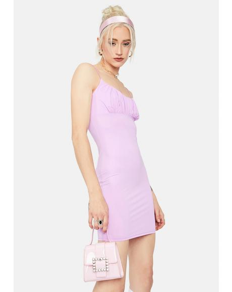 Lavender Goin' Places Ruched Bodycon Dress