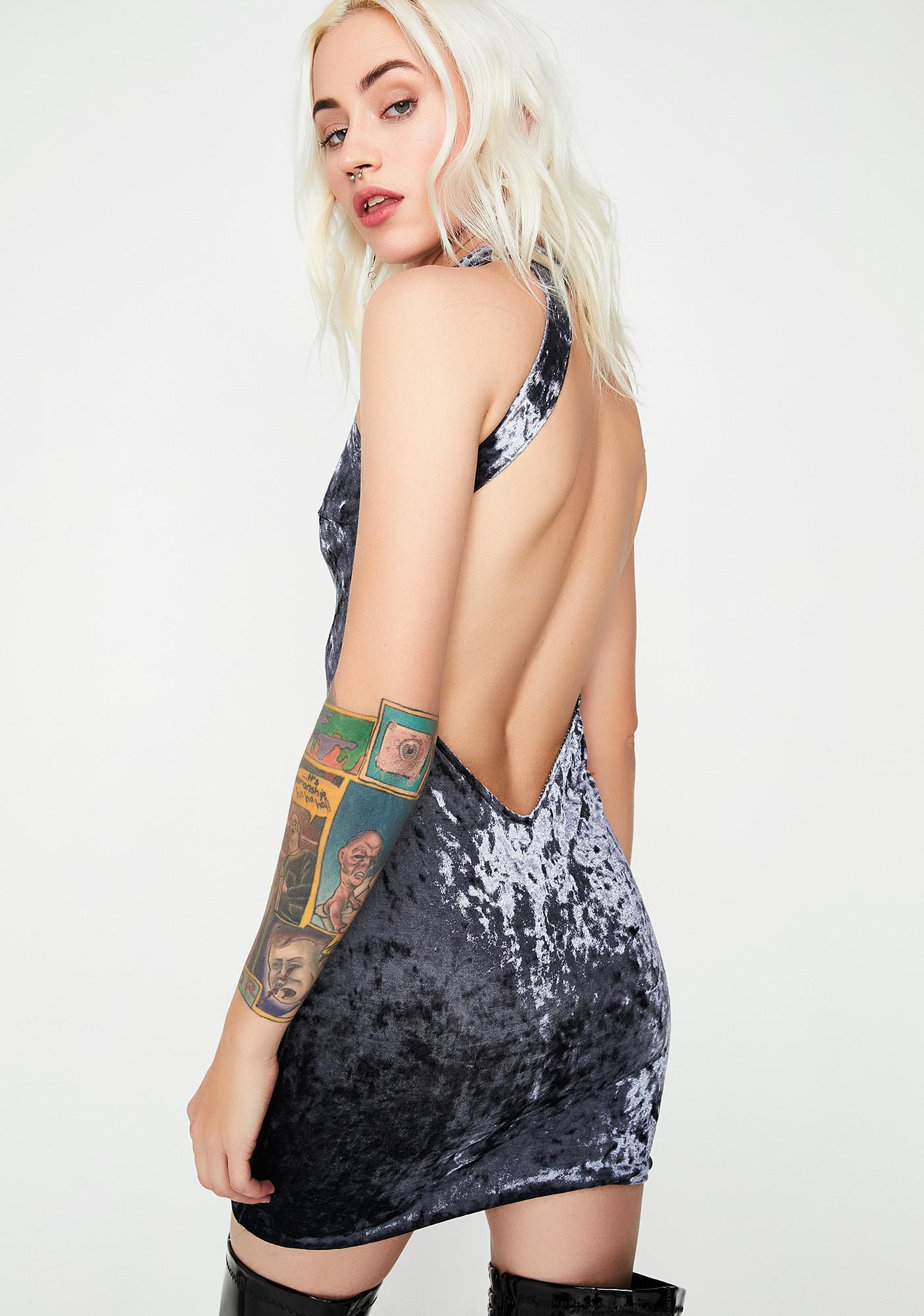 Crushed Soul Velvet Dress