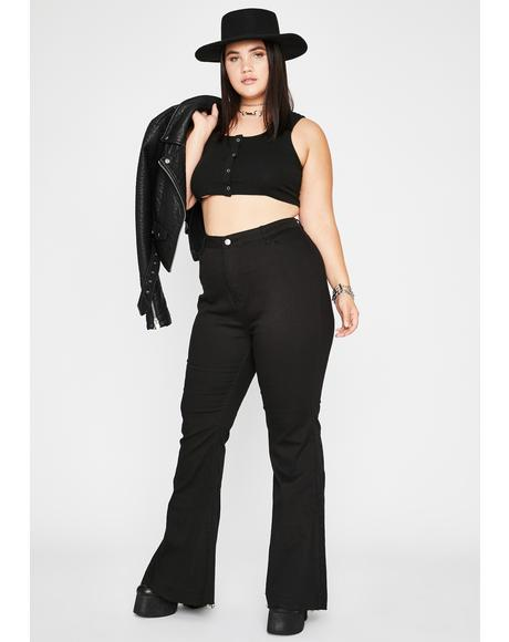 Sin Make It Hot Denim Flares