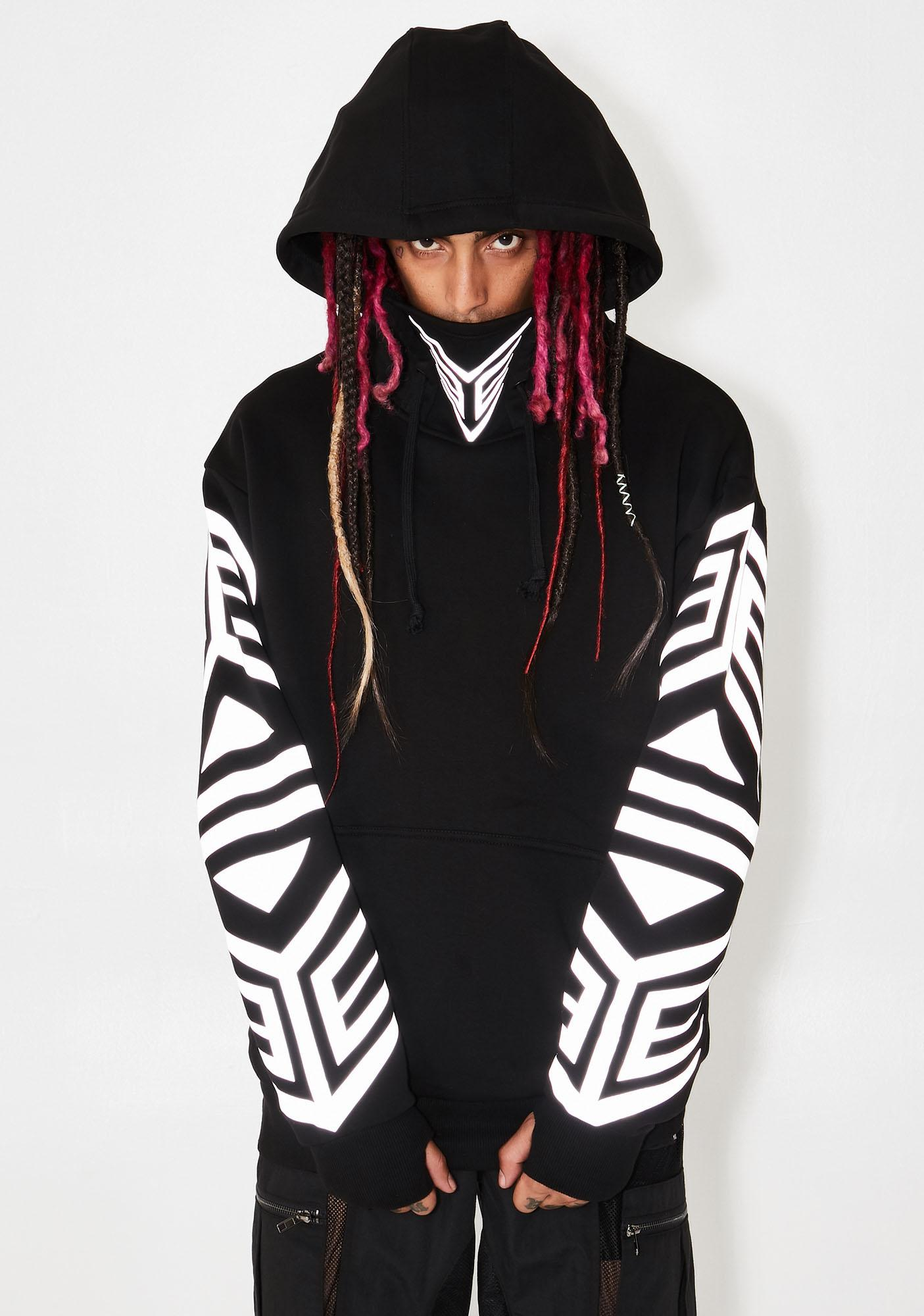 Club Exx Mark Of The Beast Masked Hoodie