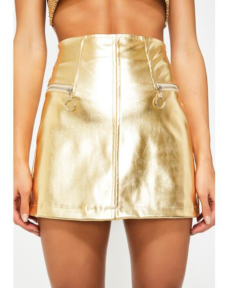 Sass Society Metallic Skirt