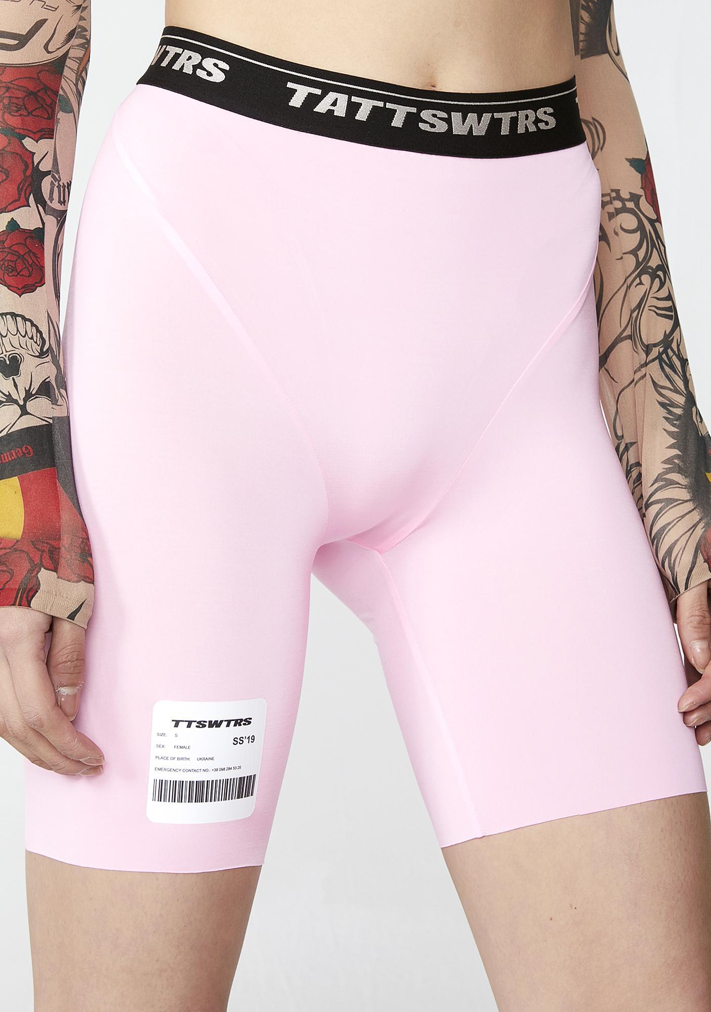 TATTOOSWEATERS Pink Short Leggings