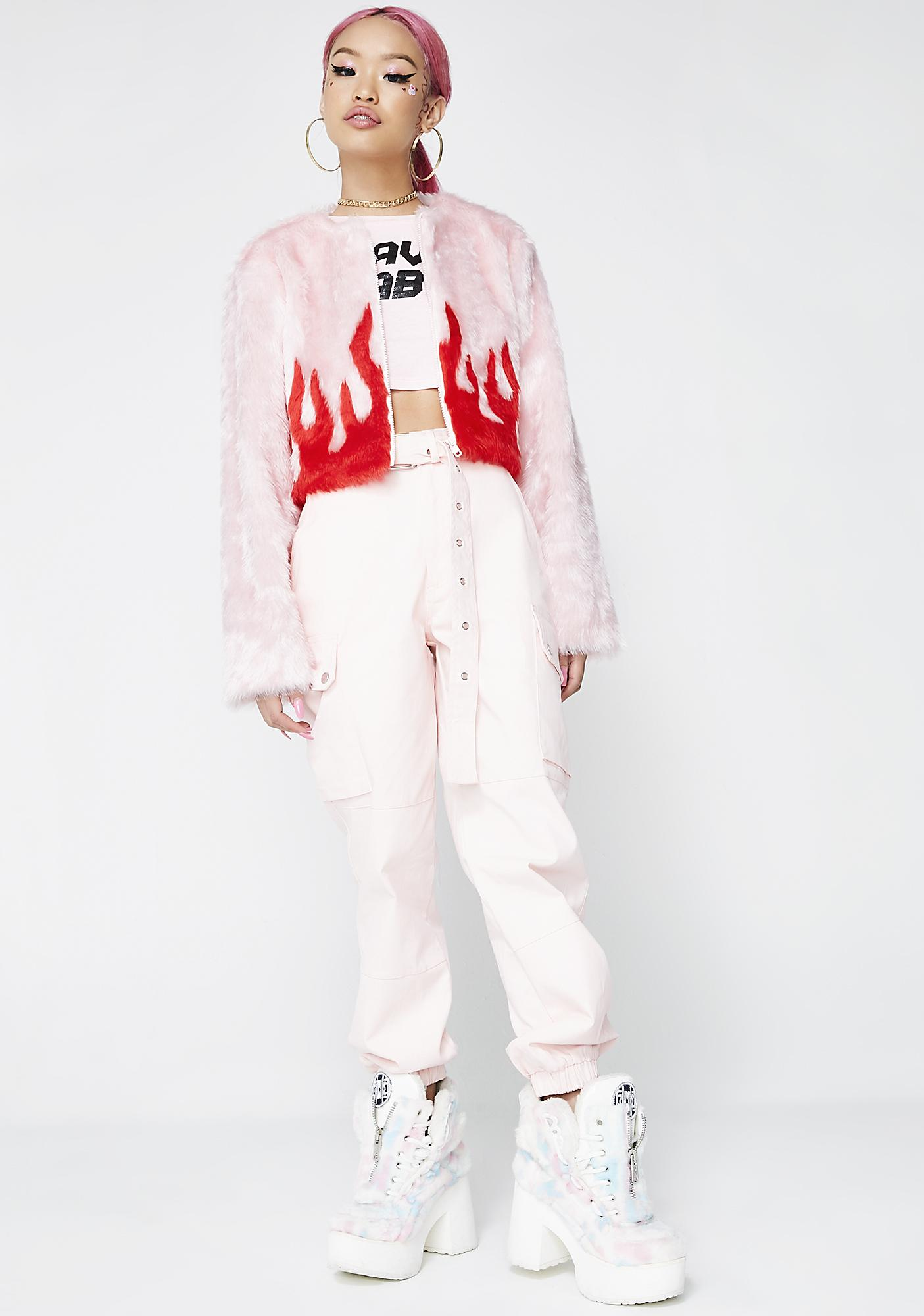 Feast Studio Woke Cropped Fur Jacket