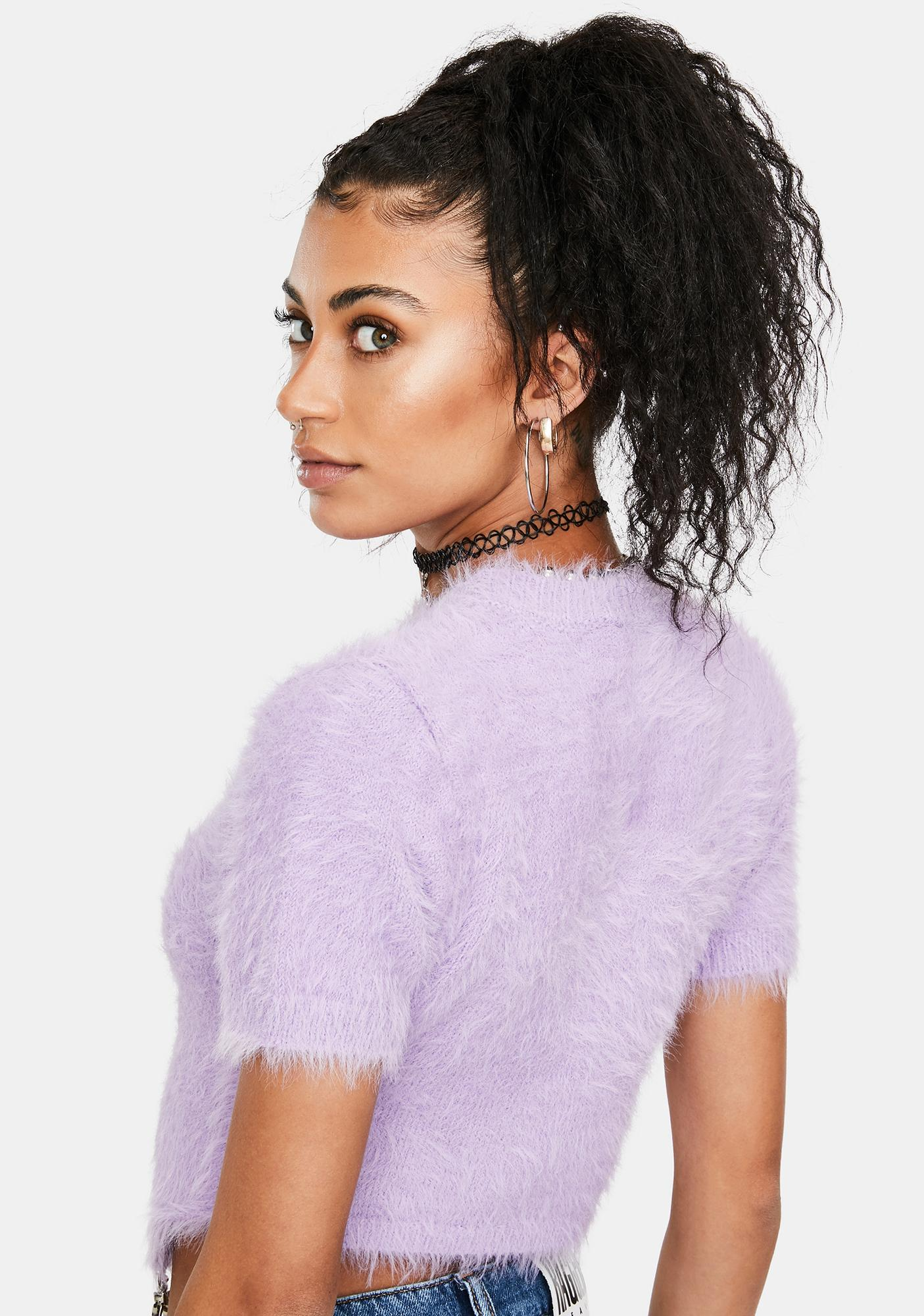 The Ragged Priest Mystery Fuzzy Knit Crop Top