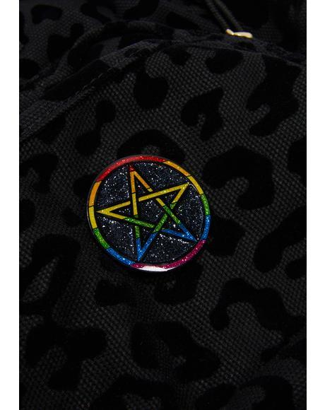 Pentagram Pride Pin