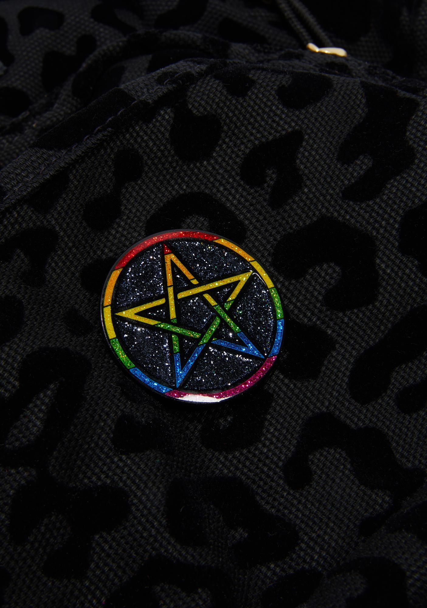 Geeky And Kinky Pentagram Pride Pin