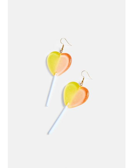 Tasting Sweet Love Lollipop Earrings