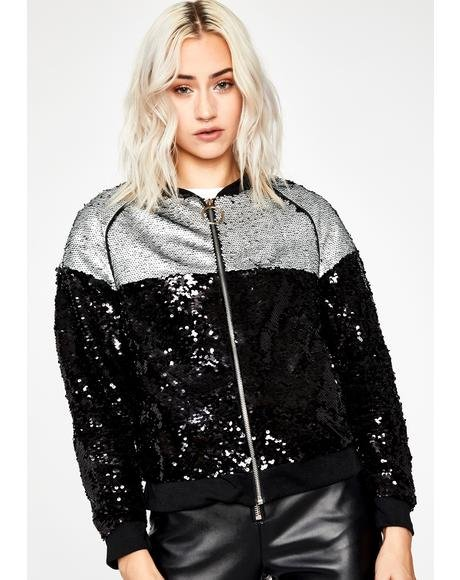 On The Scene Sequin Jacket